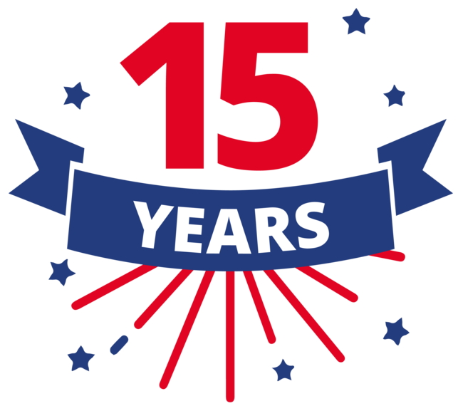 15th Years in Business